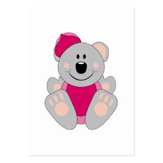 Cutelyn Baby Girl Baseball Koala Bear Large Business Cards (Pack Of 100)