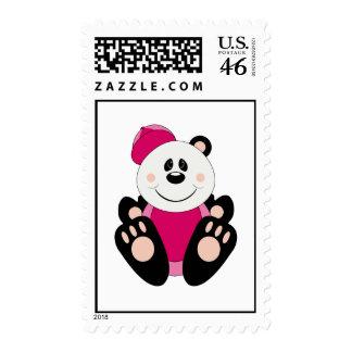 Cutelyn Baby Girl Baseball Panda Bear Stamp