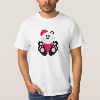 Cutelyn Baby Girl Baseball Panda Bear T-Shirt