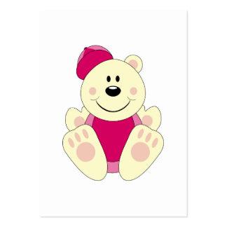 Cutelyn Baby Girl Baseball Polar Bear Large Business Cards (Pack Of 100)