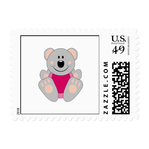 Cutelyn Baby Girl Koala Bear Postage Stamps