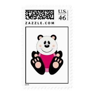 Cutelyn Baby Girl Panda Bear Stamps