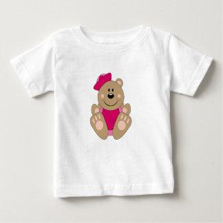 Cutelyn Baby Girl Sailor Bear Baby T-Shirt