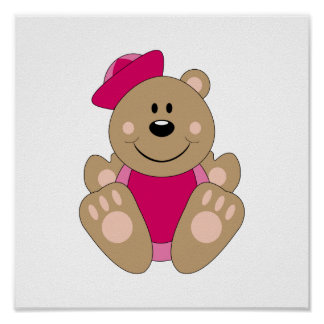 Cutelyn Baby Girl Sailor Bear Poster