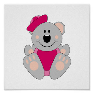 Cutelyn Baby Girl Sailor Koala Bear Poster