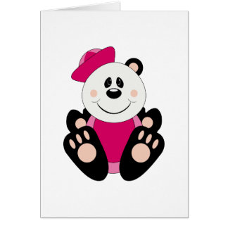 Cutelyn Baby Girl Sailor Panda Bear Card