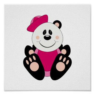 Cutelyn Baby Girl Sailor Panda Bear Posters
