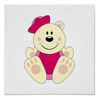 Cutelyn Baby Girl Sailor Polar Bear Poster