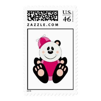 Cutelyn Baby Girl Silly Panda Bear Stamp