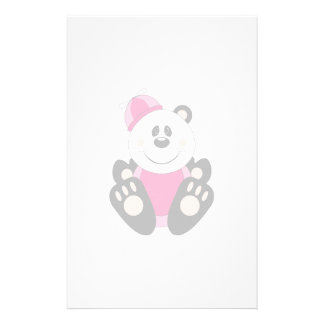 Cutelyn Baby Girl Silly Panda Bear Stationery Paper