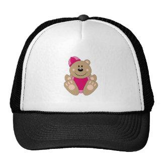 Cutelyn Baby Girl Snow Bear Trucker Hat