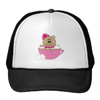 Cutelyn Baby Girl Snow Bear Mug Trucker Hat