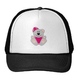 Cutelyn Baby Girl Snow Koala Bear Trucker Hat