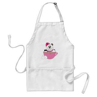 Cutelyn Baby Girl Snow Panda Bear Mug Apron