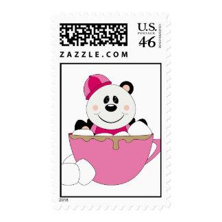 Cutelyn Baby Girl Snow Panda Bear Mug Postage Stamp