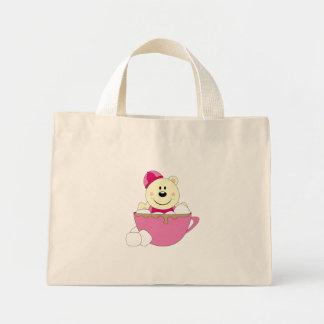 Cutelyn Baby Girl Snow Polar Bear Mug Mini Tote Bag