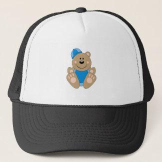 Cutelyn Boy Snow Bear Trucker Hat