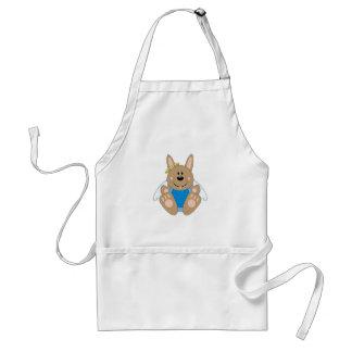 Cutelyn Brown Baby Boy Angel Bunny Apron