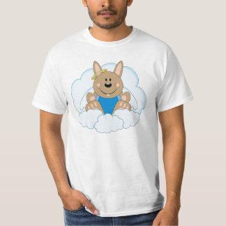 Cutelyn Brown Baby Boy Angel Bunny On Clouds T-Shirt