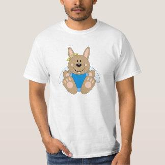 Cutelyn Brown Baby Boy Angel Bunny T-Shirt