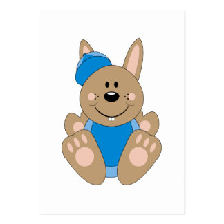 Cutelyn Brown Baby Boy Baseball Bunny Large Business Cards (Pack Of 100)