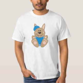 Cutelyn Brown Baby Boy Baseball Bunny T-Shirt