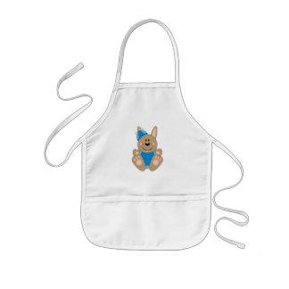 Cutelyn Brown Baby Boy Silly Bunny Aprons
