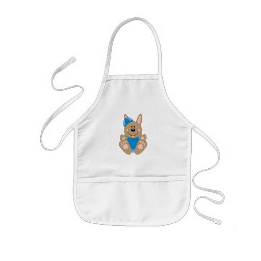 Cutelyn Brown Baby Boy Snow Bunny Aprons