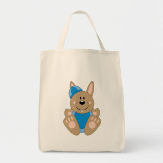 Cutelyn Brown Baby Boy Snow Bunny Canvas Bag