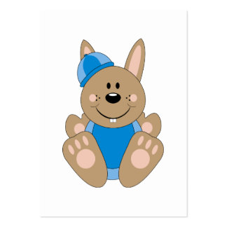 Cutelyn Brown Baby Boy Snow Bunny Large Business Cards (Pack Of 100)
