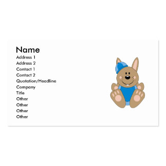 Cutelyn Brown Baby Boy Snow Bunny Double-Sided Standard Business Cards (Pack Of 100)