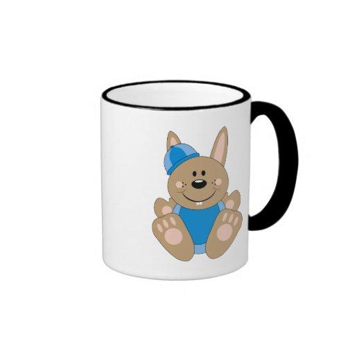 Cutelyn Brown Baby Boy Snow Bunny Mugs