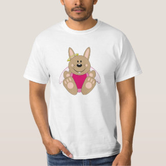 Cutelyn Brown Baby Girl Angel Bunny T-Shirt