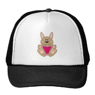 Cutelyn Brown Baby Girl Bunny Trucker Hats