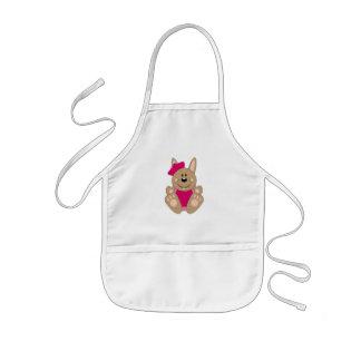 Cutelyn Brown Baby Girl Sailor Bunny Apron