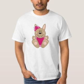 Cutelyn Brown Baby Girl Silly Bunny T-Shirt