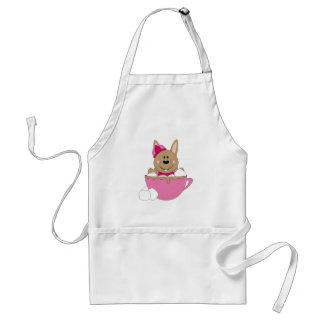 Cutelyn Brown Baby Girl Snow Bunny Mug Aprons