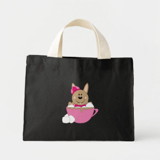 Cutelyn Brown Baby Girl Snow Bunny Mug Canvas Bag
