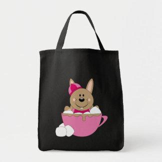 Cutelyn Brown Baby Girl Snow Bunny Mug Tote Bag