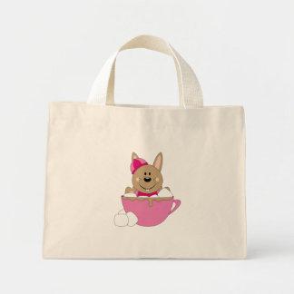 Cutelyn Brown Baby Girl Snow Bunny Mug Bags
