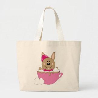 Cutelyn Brown Baby Girl Snow Bunny Mug Canvas Bags