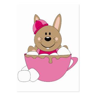 Cutelyn Brown Baby Girl Snow Bunny Mug Business Card