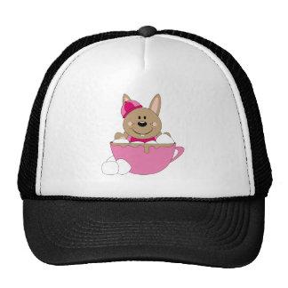 Cutelyn Brown Baby Girl Snow Bunny Mug Trucker Hat
