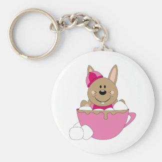 Cutelyn Brown Baby Girl Snow Bunny Mug Key Chains