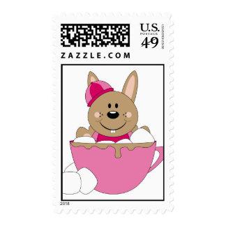 Cutelyn Brown Baby Girl Snow Bunny Mug Postage