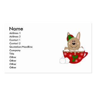Cutelyn Brown Christmas Mug Bunny Business Cards