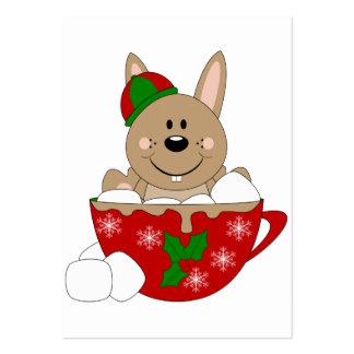 Cutelyn Brown Christmas Mug Bunny Business Card Templates