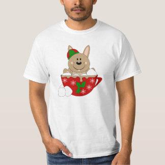 Cutelyn Brown Christmas Mug Bunny T-Shirt