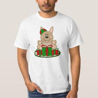 Cutelyn Brown Christmas Present Bunny T-Shirt