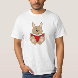 Cutelyn Brown Reading Bunny T-Shirt